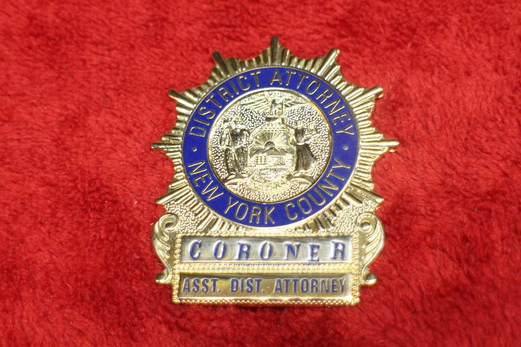 new york country coroner badge us abzeichen s w. Black Bedroom Furniture Sets. Home Design Ideas