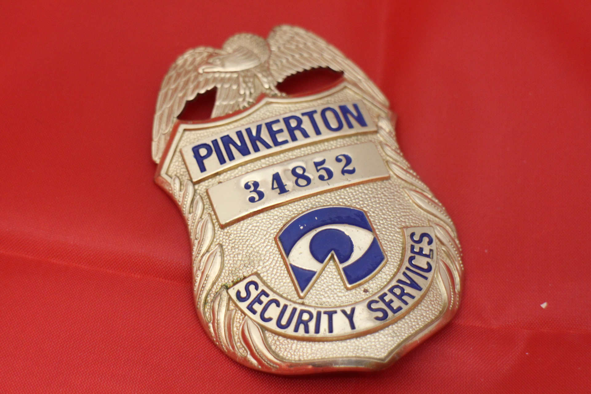 security services pinkerton us badge mit nummer. Black Bedroom Furniture Sets. Home Design Ideas