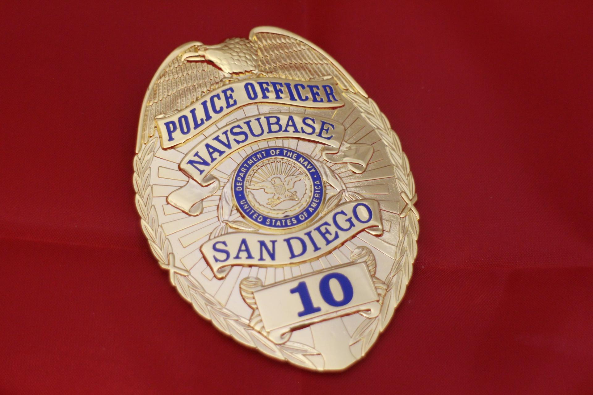 police officer us navy badge gestempelt. Black Bedroom Furniture Sets. Home Design Ideas