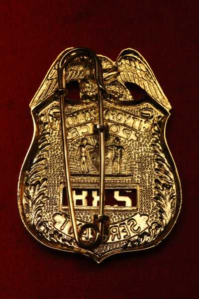 Sergeant City of New York Police Badge mit Nummer und Lug - Nadel